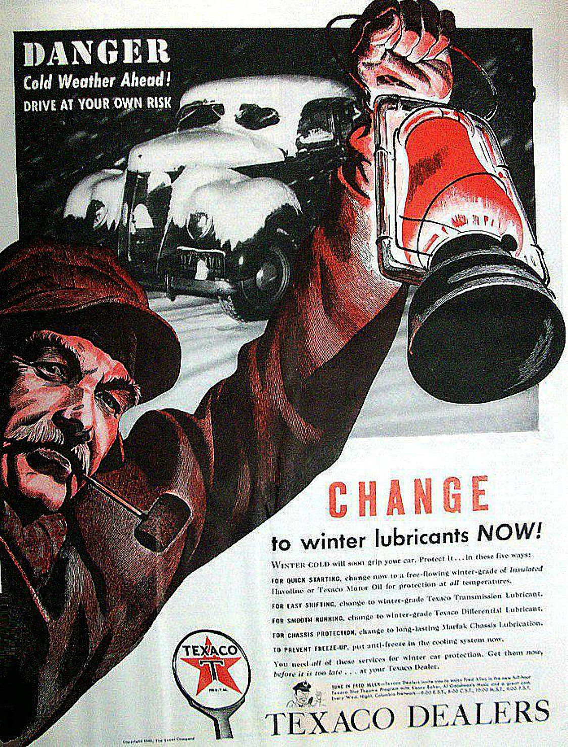 A Texaco advertisement in a 1940's Life Magazine