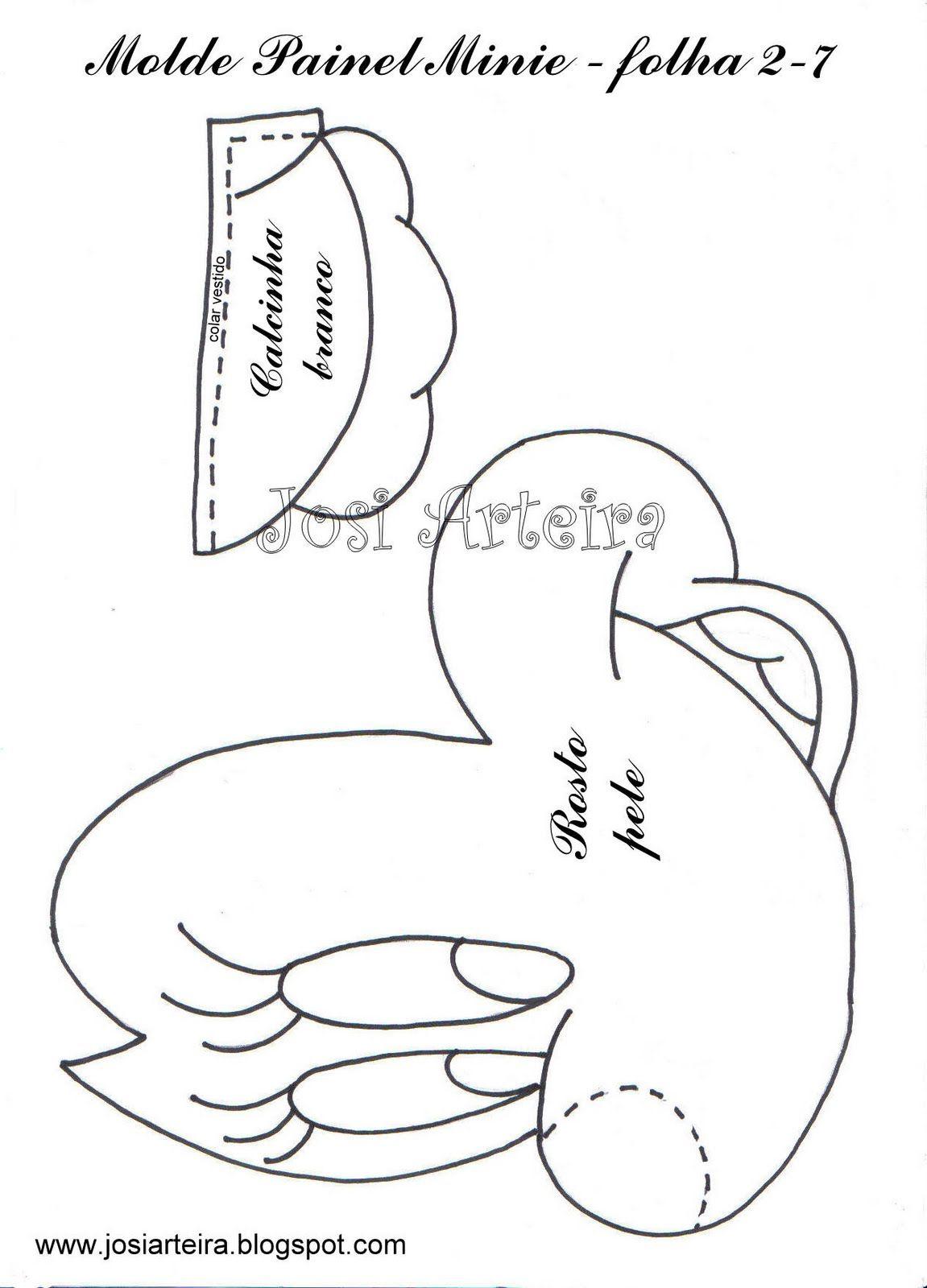 MOLDES DE E.V.A: PAINEL MINNIE!!! | moldes almofadas Mickey e Minnie ...