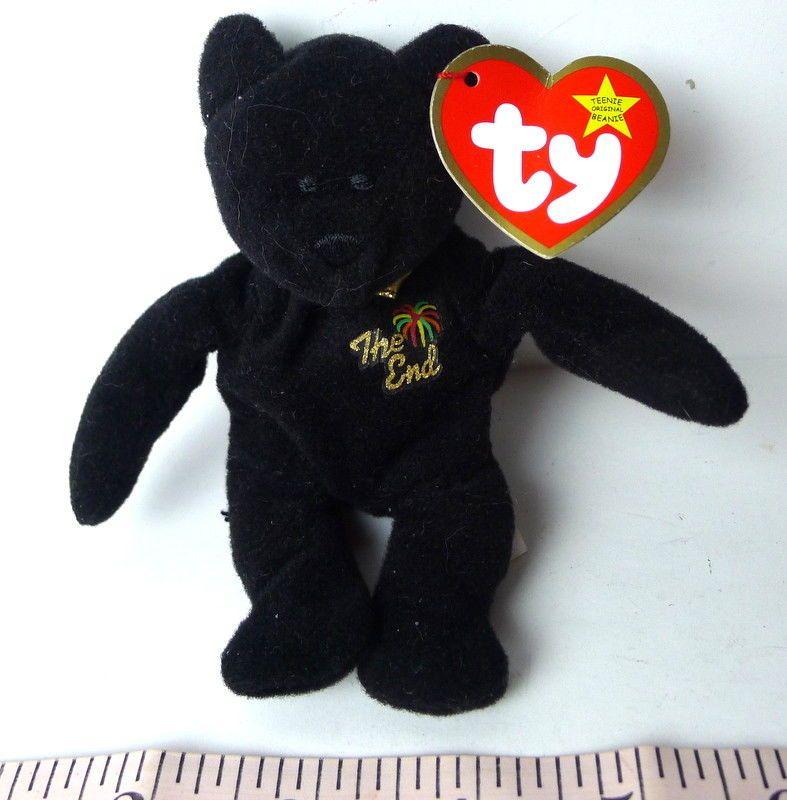 387e13e63 Ty Teenie Beanie Babie THE END black bear #Ty | Blasts from the Past ...