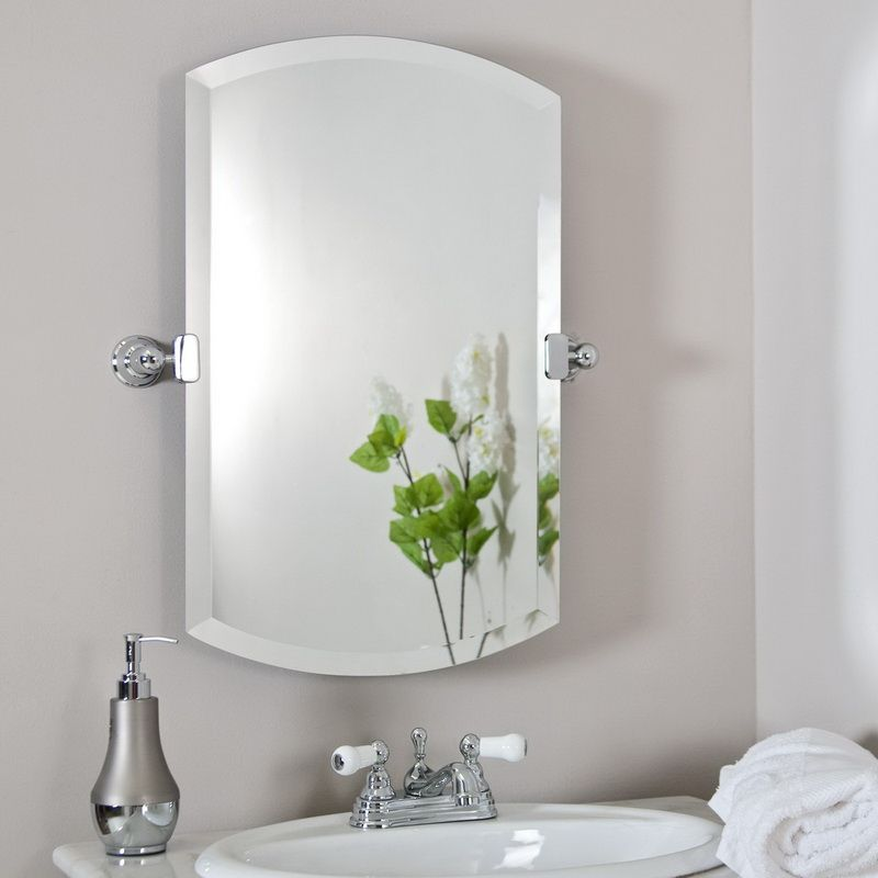 Gentil Contemporary Bathroom Wall Mirrors