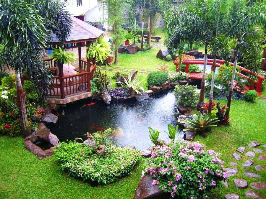 Estanque de jard n saludable claves para lograr el equilibrio adecuado estanques pinterest - Jardines japoneses pequenos ...