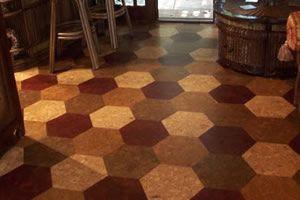 Cork Flooring In Hexagon Shaped Tiles 100 Oak Wood For Floors Walls Or Ceiling