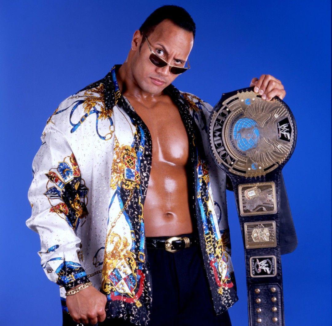 The Rock WWF Champion | Wwe champions, The rock wrestler, Wwe the rock