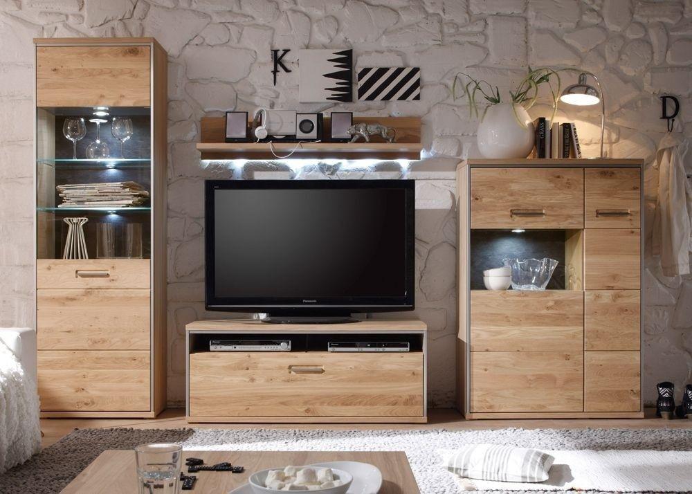 Wohnwand Espero 1 Holz Massiv Asteiche Bianco 9177 Buy now at - wohnzimmerschrank eiche massiv