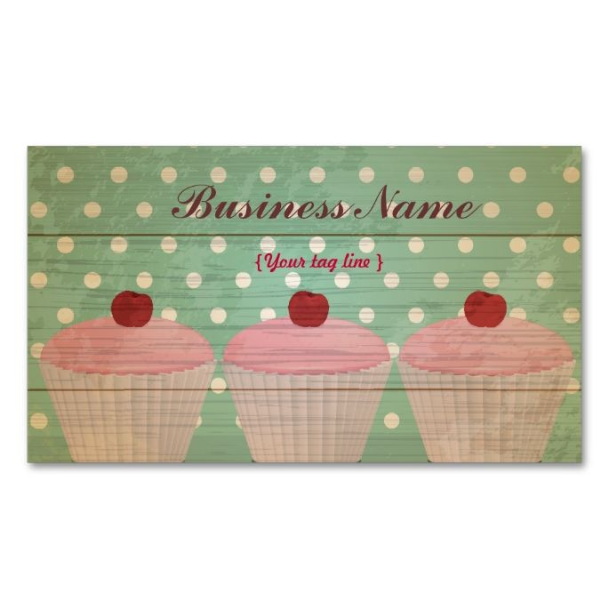 Cupcake business card template make your own business card with cupcake business card template make your own business card with this great design all reheart Choice Image