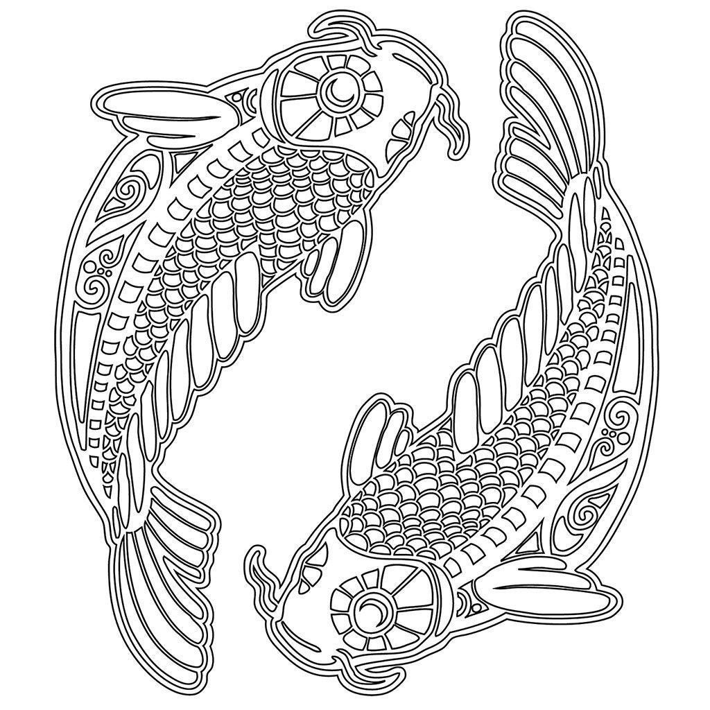 Pin von Elisabeth Quisenberry auf Coloring: Pisces | Pinterest
