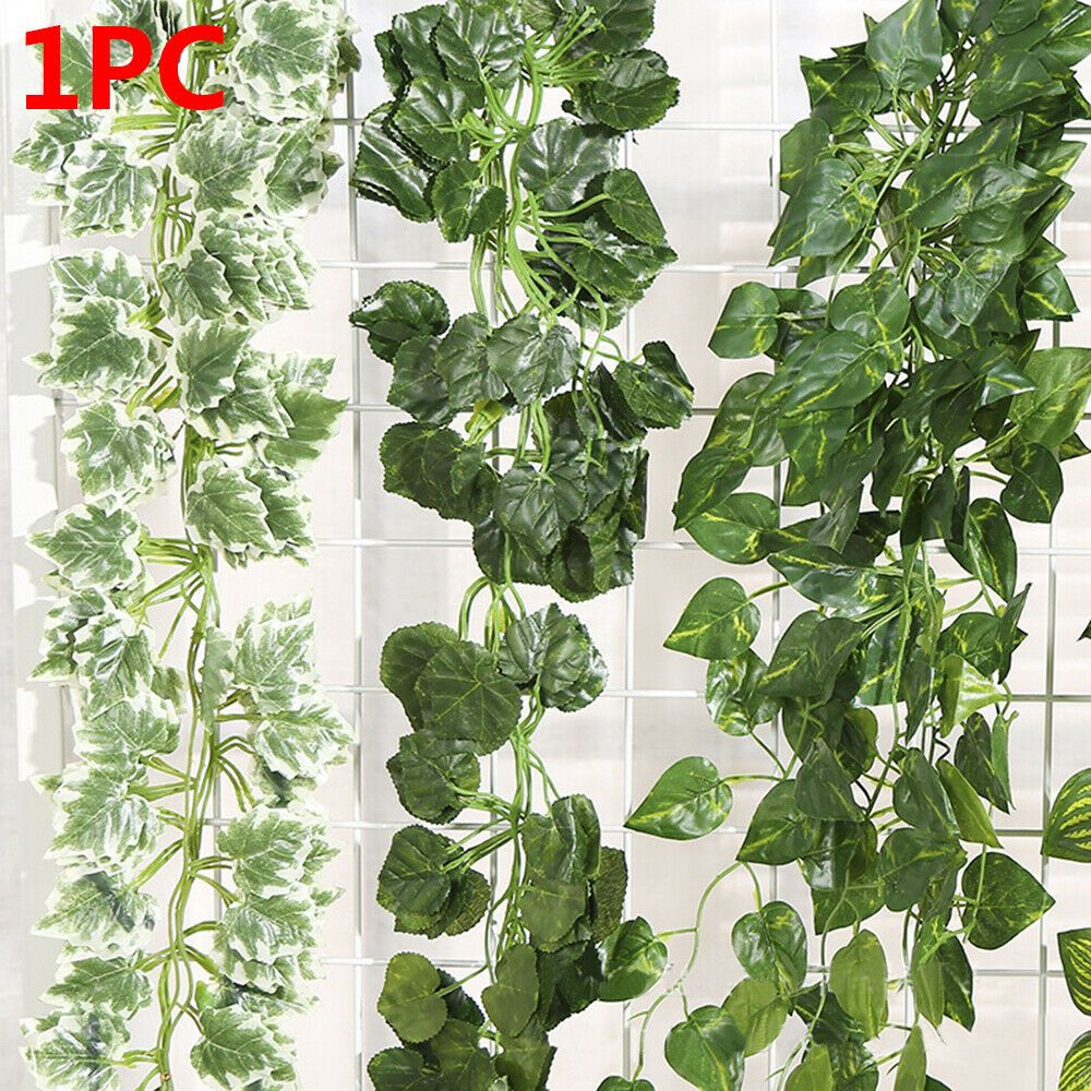 12pcs Artificial Ivy Leaf Plants Vine Hanging Garland Fake Flowers Home Decor