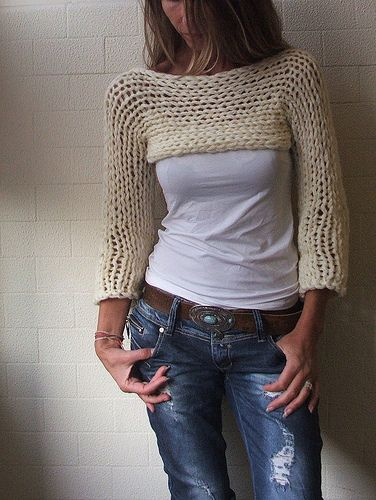 chunky cropped sweater 0