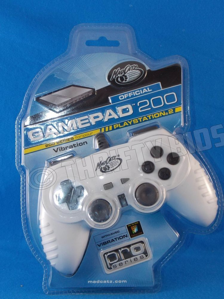 Mad Catz Gamepad 200 PS2 Wired Controller For PlayStation 2 White ...