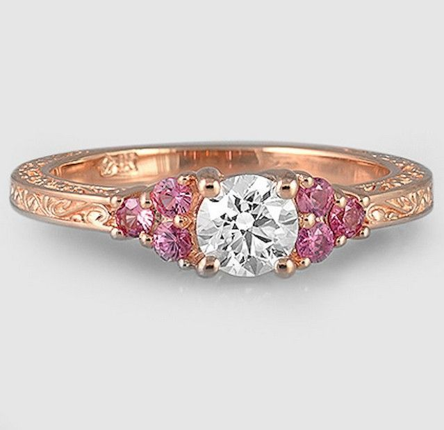 Brilliant Earth With Pink Accents Goldring Beautiful