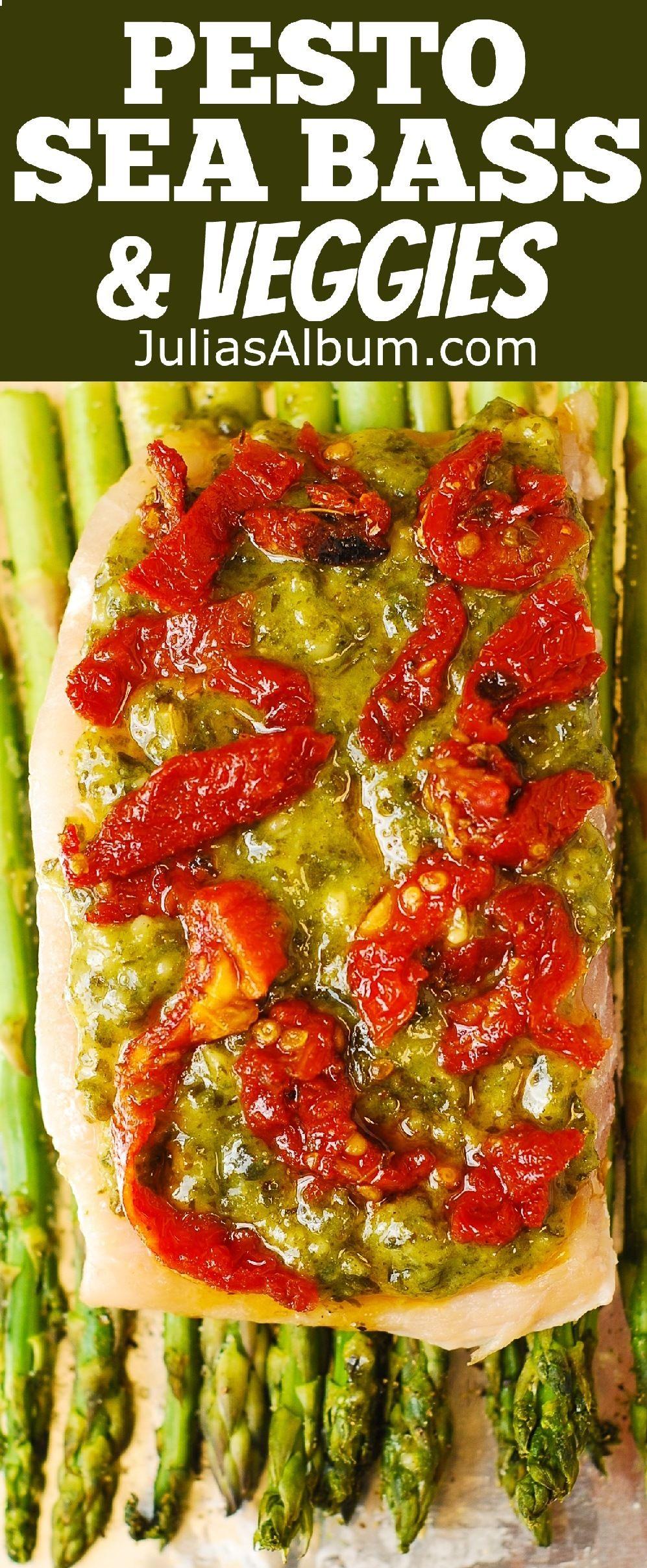 Pesto Sea Bass And Veggies Recipe Black Sea Sea Bass