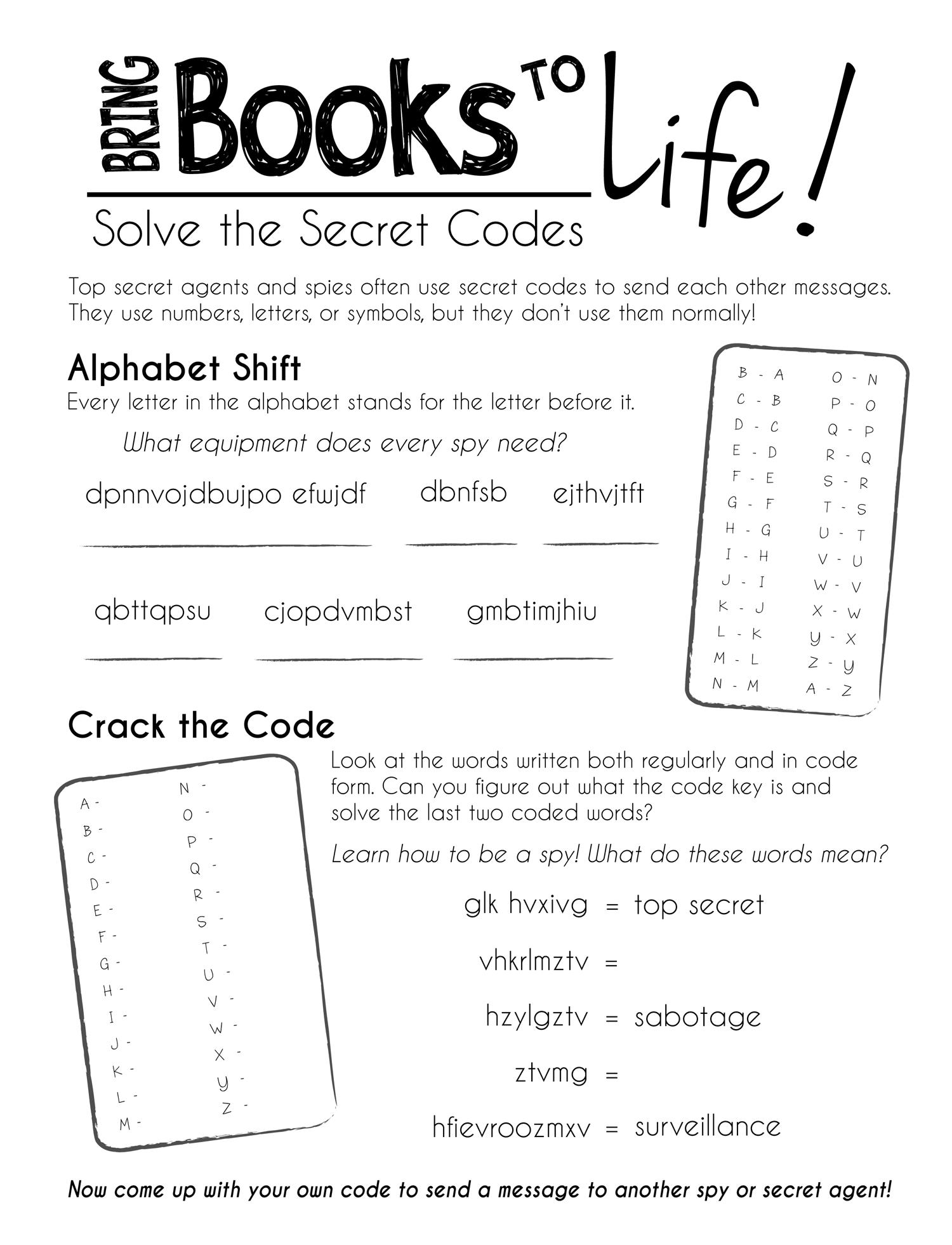 worksheet Secret Codes For Kids Worksheets solve the secret codes cub scouts pinterest code worksheets for kidsfree