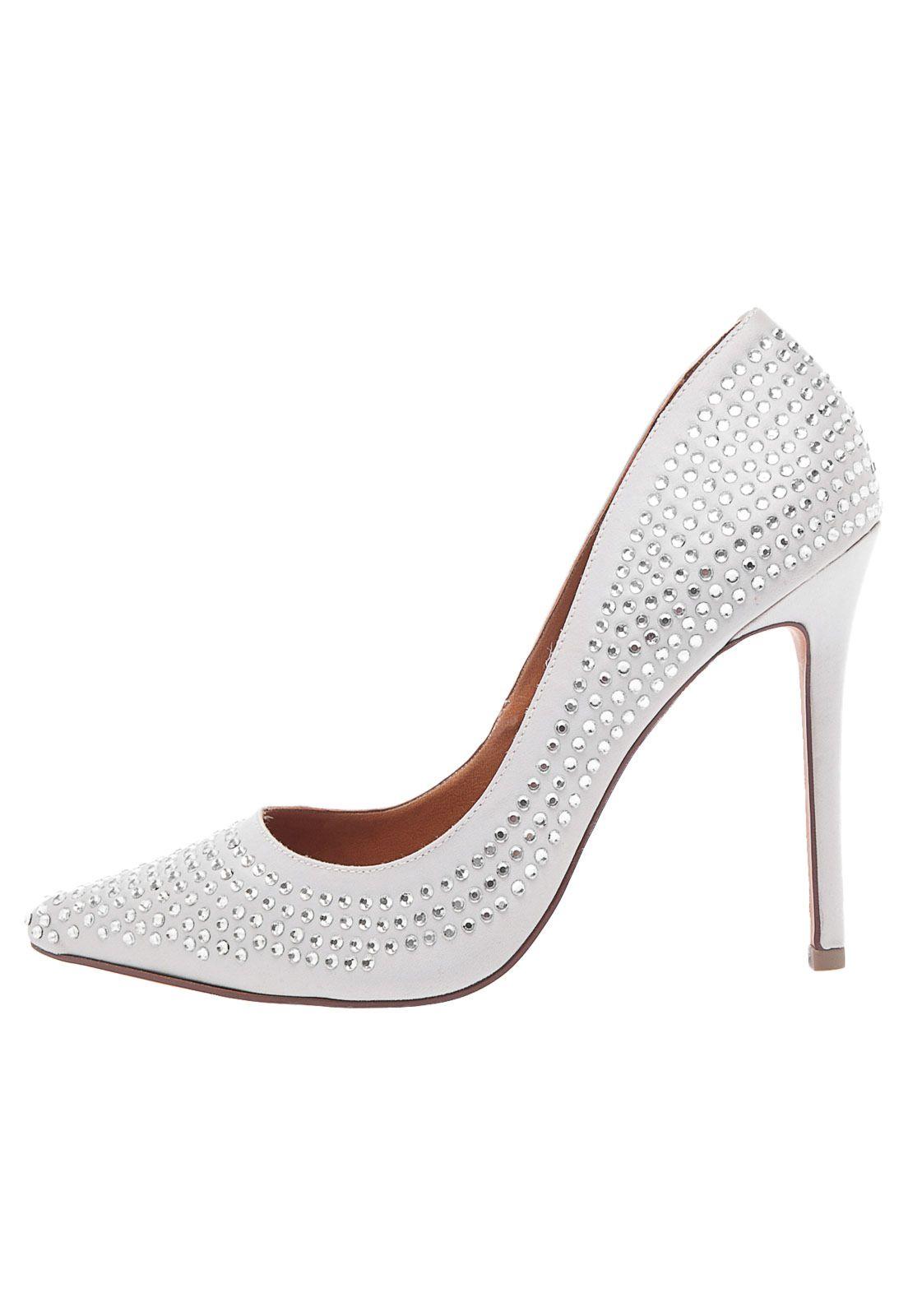 993187ca4 Scarpin Santa Lolla Strass Off   sapatos   Shoes, Off white e ...