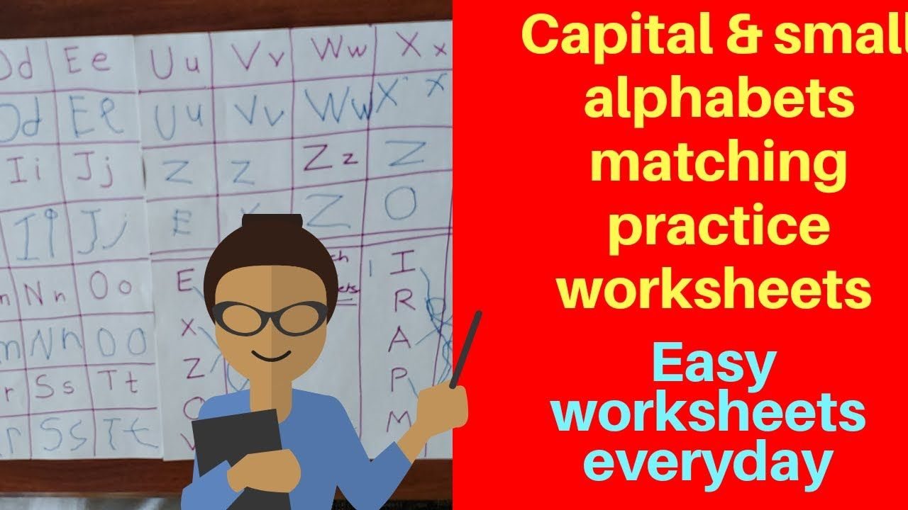Alphabets Practice Worksheets Capital Small Alphabets Matching Works Alphabet Practice Worksheets Alphabet Practice Alphabet Matching [ 720 x 1280 Pixel ]