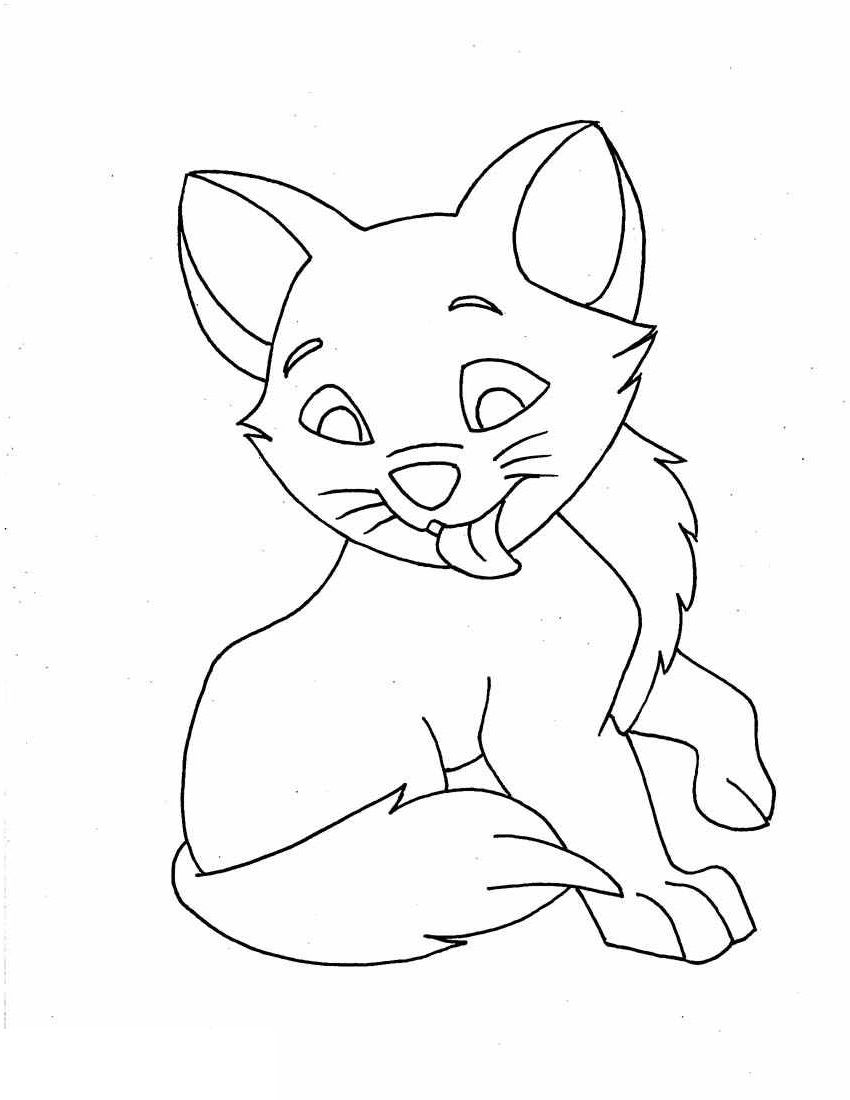 Best Printable Kitten Coloring Pages Animal coloring