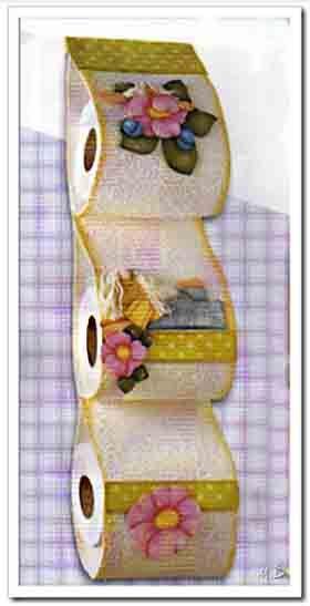 Porta rollos de foamy goma eva decoracion pinterest - Trabajos en goma eva navidad ...