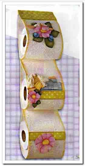 Porta rollos de foamy goma eva decoracion pinterest - Decoracion navidad goma eva ...