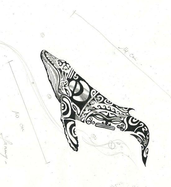 Dessin pour une baleine tattoo - Coloriage de baleine ...