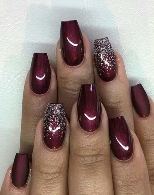 30 Gorgeous Burgundy Nail Color With Designs Follow Lifestyle In 2020 Maroon Nails Burgundy Nails Maroon Acrylic Nails