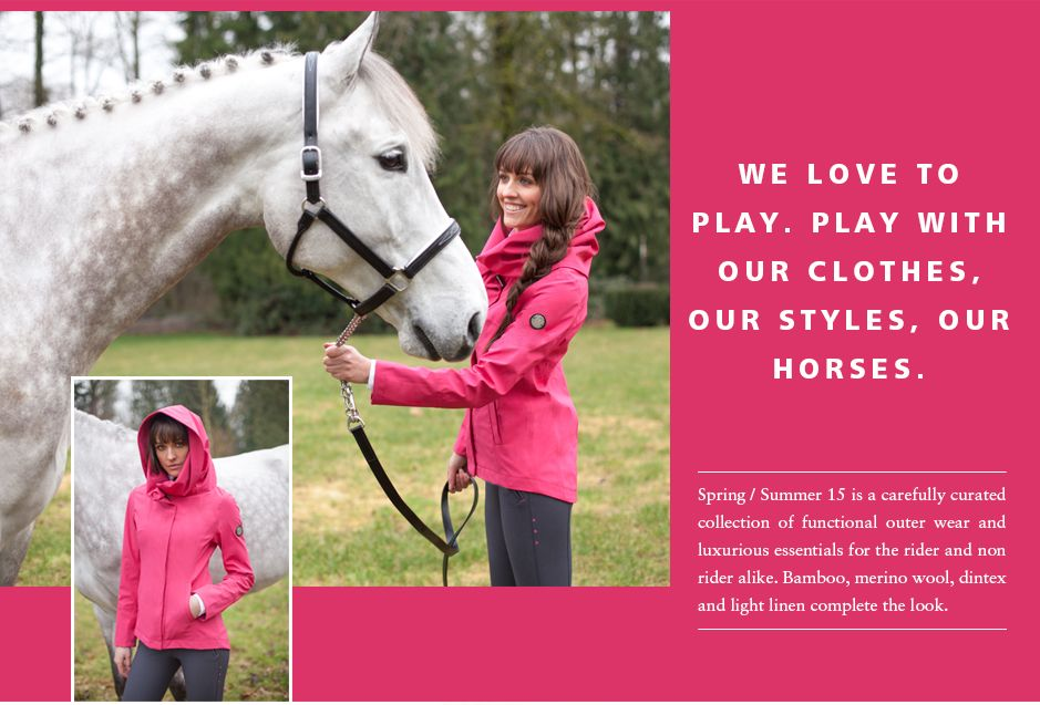 We love to play with our colors, our horses and our style. Find playful, bright fashions in the AE SS15 Campaign | Quality Riding Apparel & Clothing