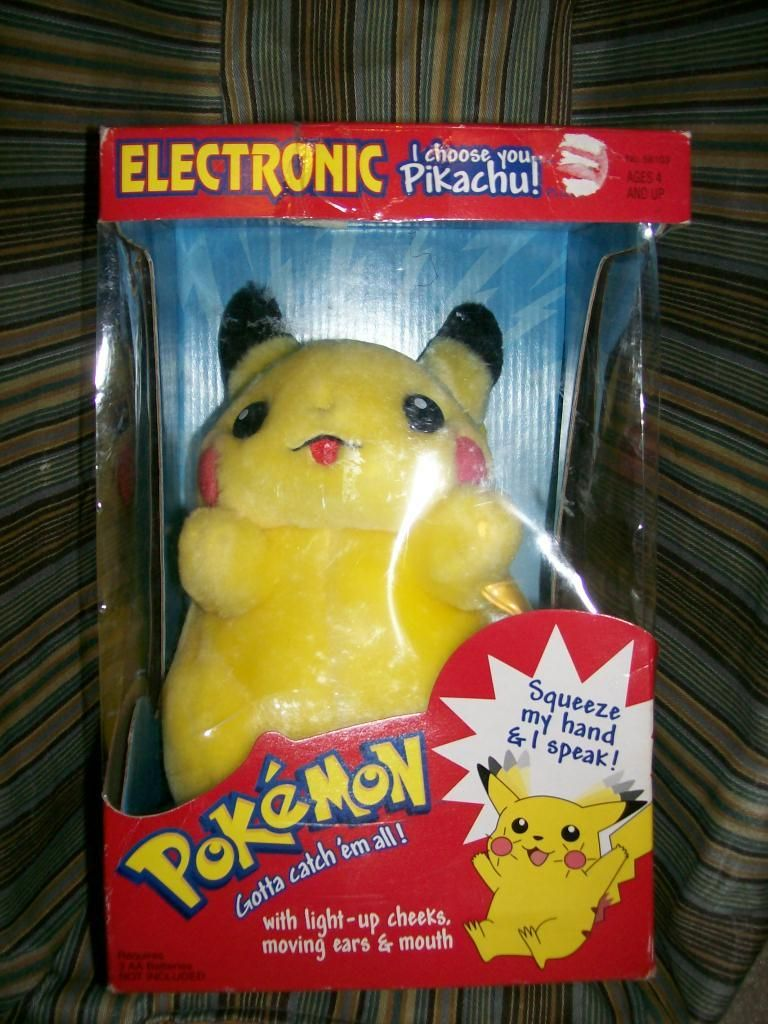 "VTG 1999 POKEMON PIKACHU ELECTRONIC TALKING PLUSH /""I Choose You Pikachu"" NEW"