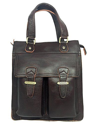 9729b78ec1cc6f Leather Bag For Mens Business Tote Briefcase Messenger Cross Body Bag  Coffee Color