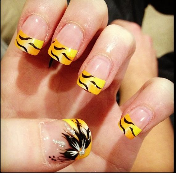 15 Cute Yellow Acrylic Nail Designs Ideas For Girls Stylish 2015 | Gallery  Nail Art Design