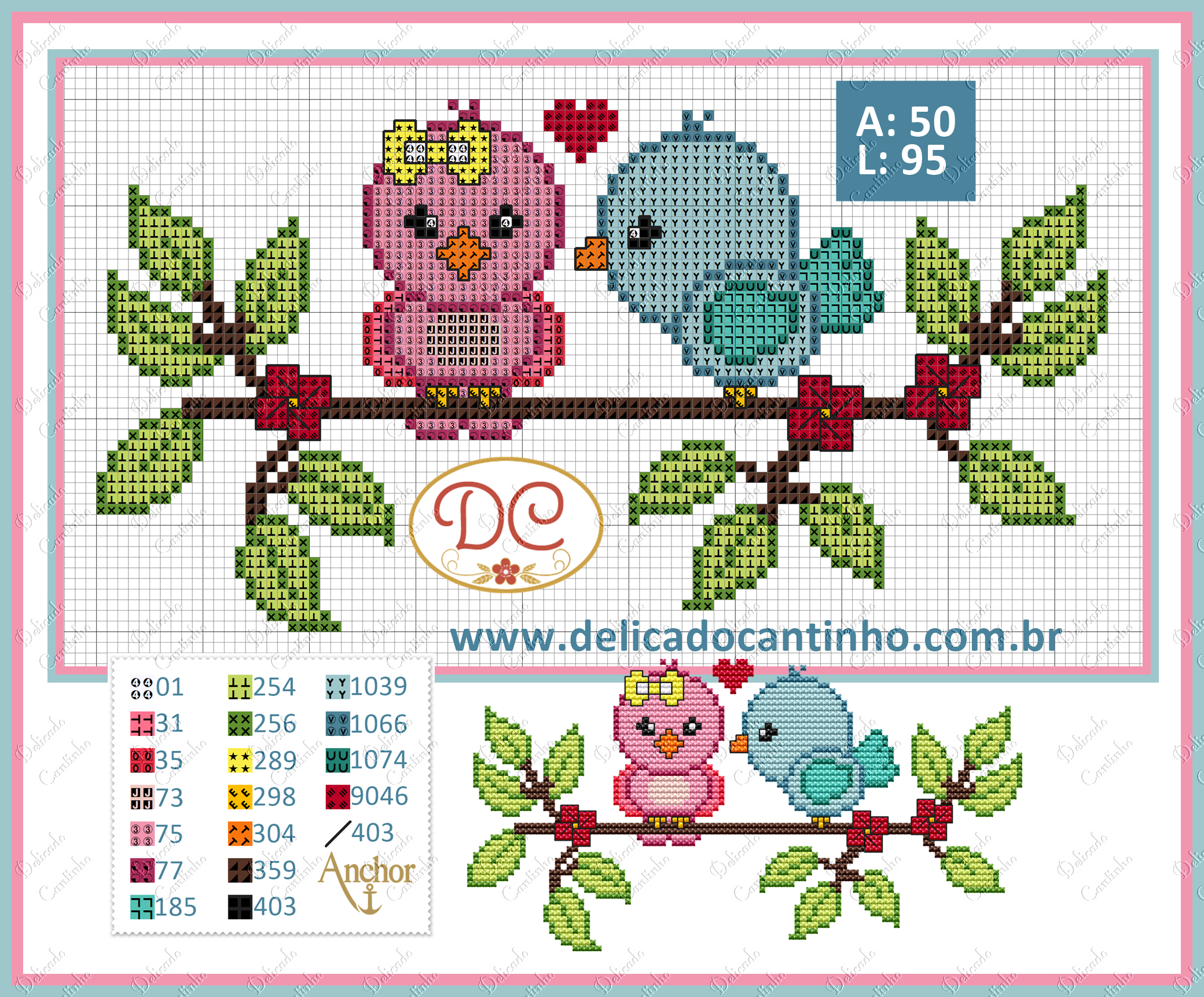 Birds pattern by Delicado Cantinho