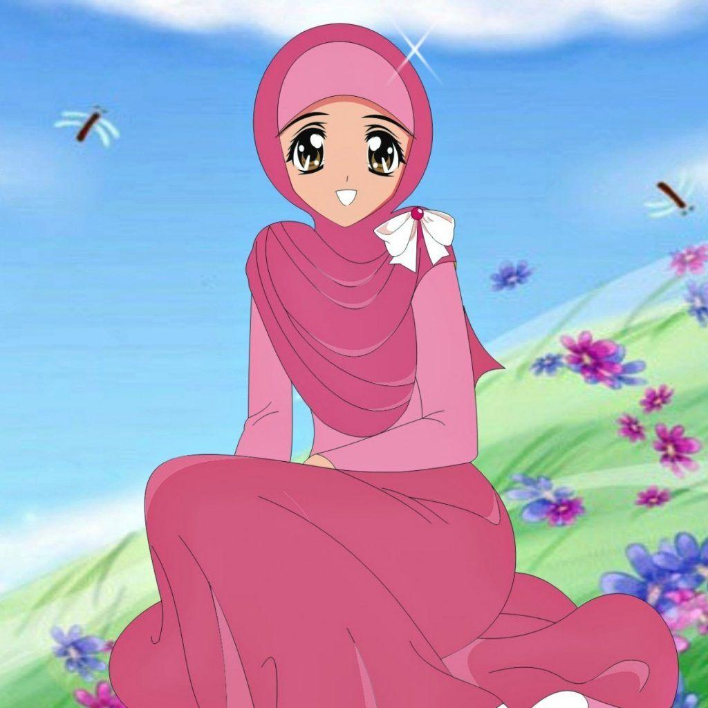 Kumpulan Gambar Kartun Muslimah Animasi Bergerak Kantor Meme Anime