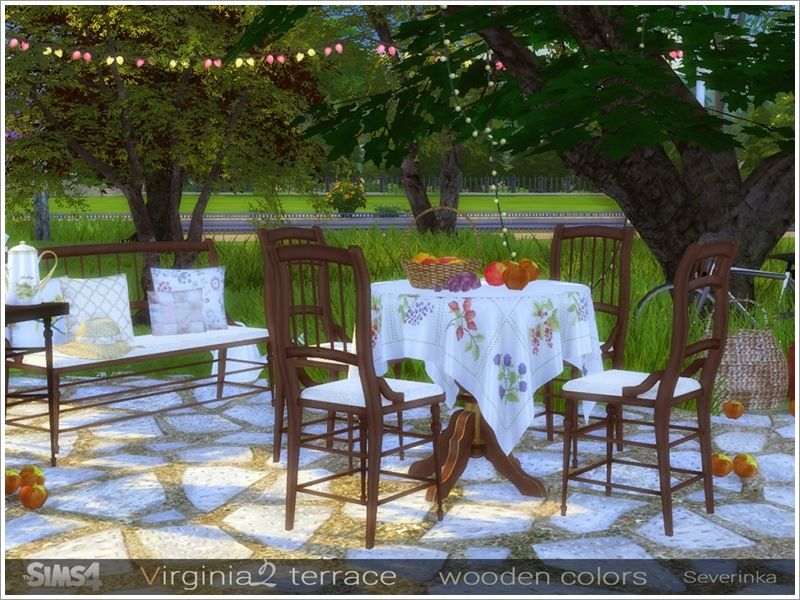 A Set Of Furniture And Decor For Decoration Of The Terrase Or Dining Room.  Found