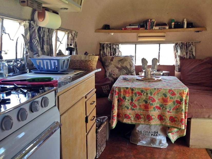The off-the-grid 1957 Airstream Flying Cloud is available to rent through Airbnb.