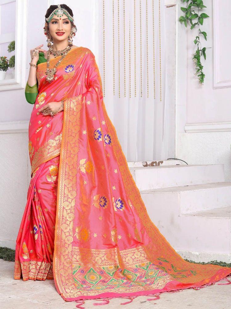 32719d20ad #Indian #ethnic #Meena work #Designer #Party wear #Banarasi #Silk #Saree# Blouse #Freeship #Handmade #SareeBlouse
