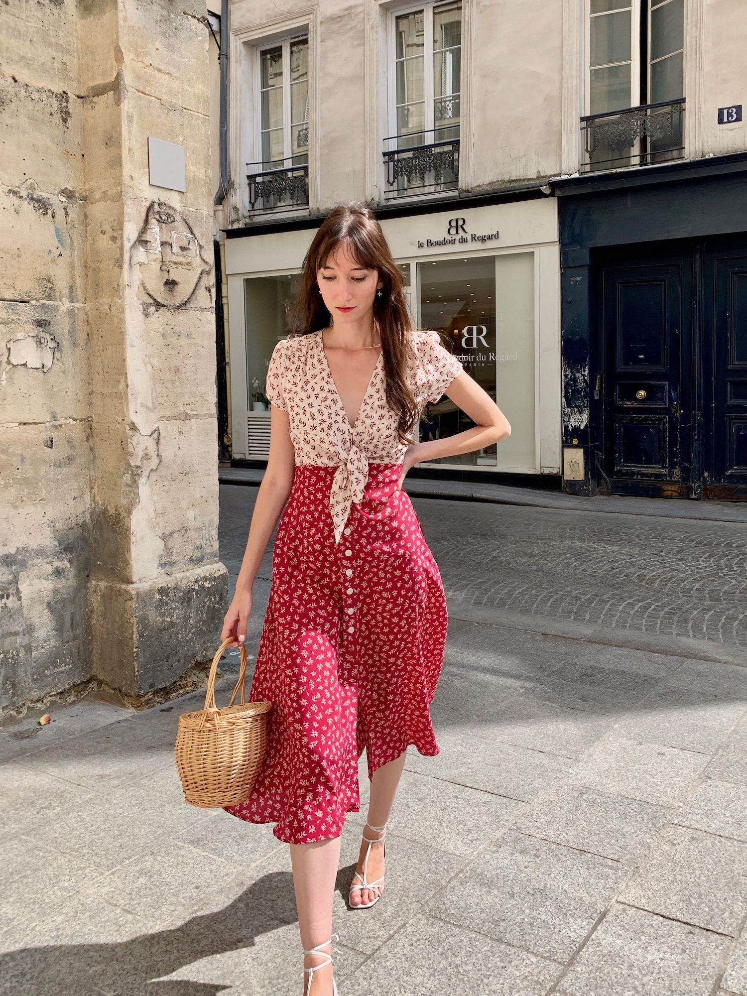 Mirae Francoise Fuchsia Dress On Victoria Petersen Of French Girl Daily French Style Clothing Parisian Dress Parisian Chic Style [ 2000 x 1500 Pixel ]