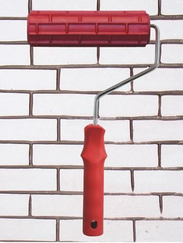 Tile-Brick-Effect-Pattern-Paint-Embossed-Roller-18cm-Texture