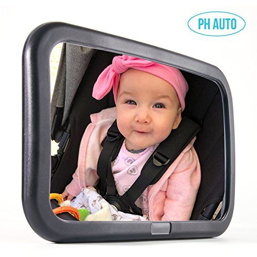 PH AUTO Baby Car Mirror for Backseat. Extra Large. W