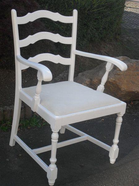 Stühle weiß holz landhaus  Stühle - Stuhl Weiß Shabby Holz Landhaus 2stück vorhanden - ein ...
