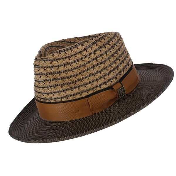 f4149aba1aed2a Kenny K Men's Two Tone Fedora with Grosgrain Band in 2019   New Products    Hats, Hats for men, Men