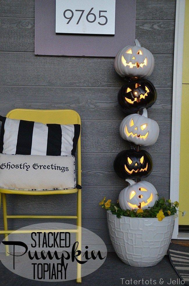71 Halloween Porch Decoration Ideas Pinterest Halloween porch - halloween outside decoration ideas