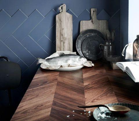 barkaboda arbeitsplatte in nussbaum mit einem sch nen. Black Bedroom Furniture Sets. Home Design Ideas