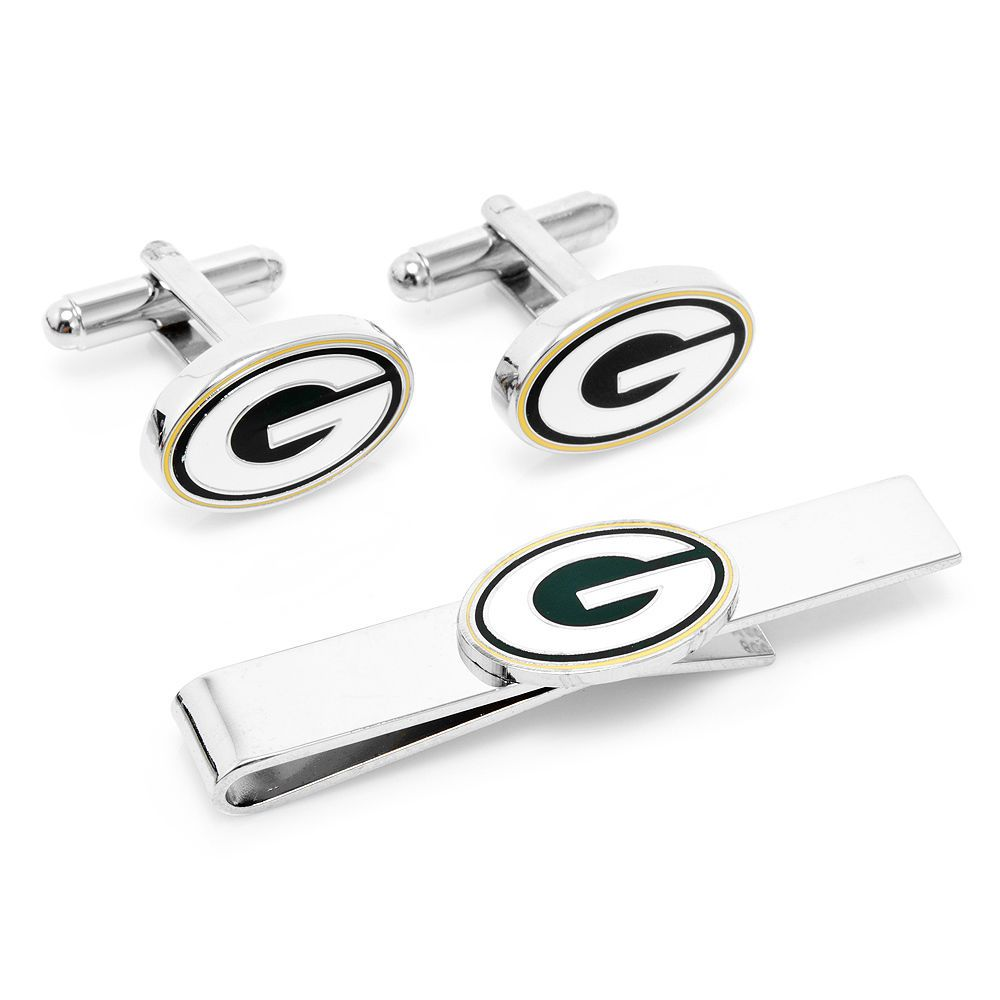 NEW NFL Green Bay Packers Cufflinks & Tie Bar Gift Set