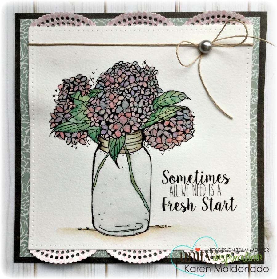 A great card starts with the stamp-- our stamps are super detailed and easy to work with- there are no mistakes with Unity. Clear, Crisp images each time.