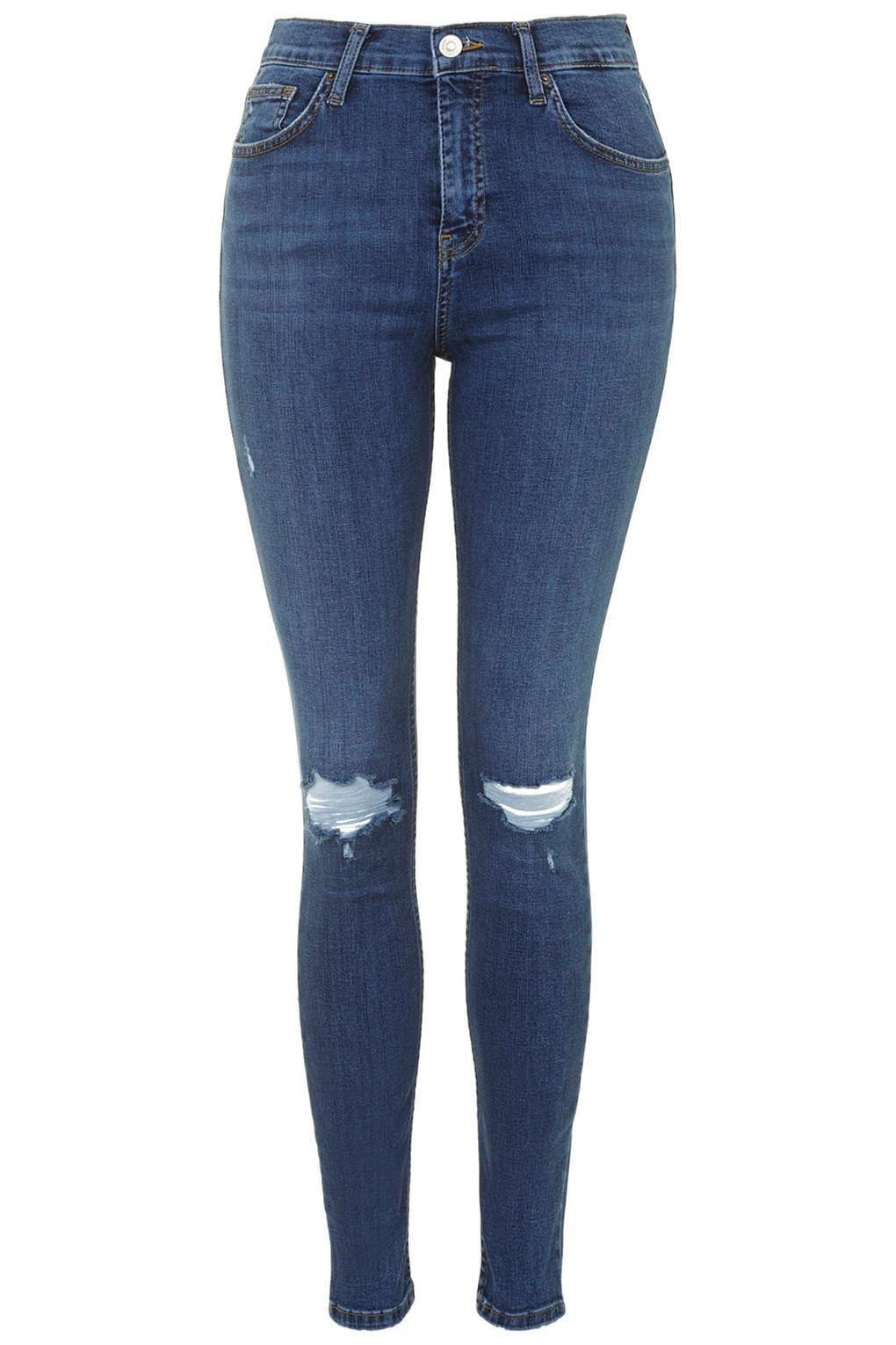 2085e4ddbfd MOTO Mid Blue Ripped Jamie Jeans in 2019 | Fashion | Ripped skinny ...