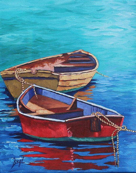 Boat Seascape Gift For Him Fishing Boat Wall Art Boat Office Etsy Boat Wall Art Boat Painting Boat Wall