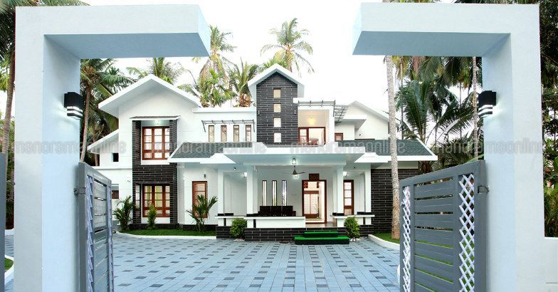 Whitehouses Minimalist Homeplans Homedesign Dreamhomes Homestyle Manorama Online House Styles Dream House House Design