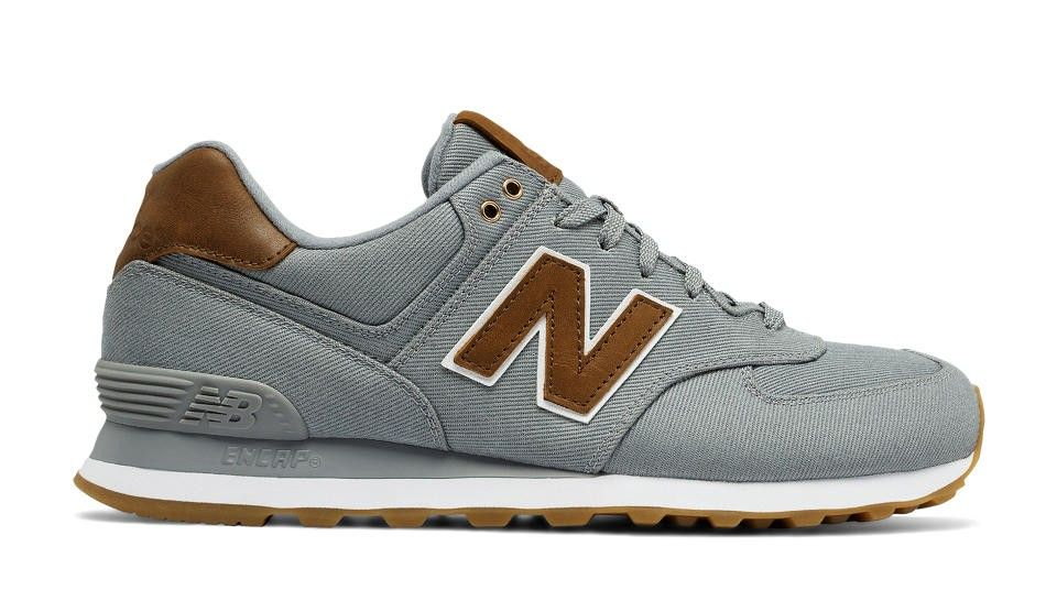 e36dd87dc2db Soldes New Balance 574 15 Ounce Canvas Unisex Gris / Marron Chaussures