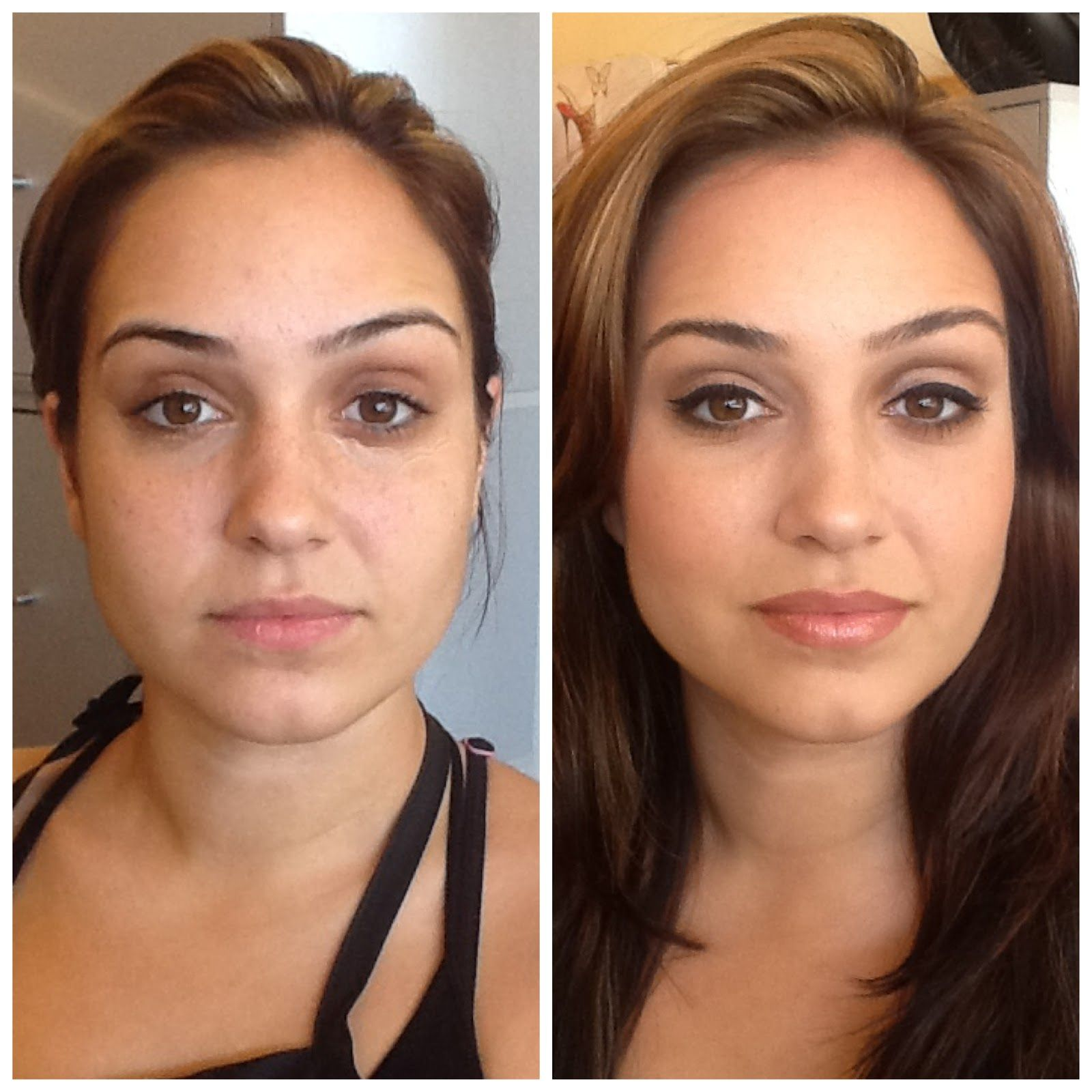 Enhancing yet natural and minimalist makeup learn it for Minimalism before and after
