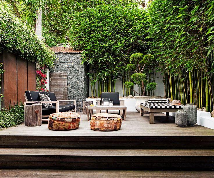 idée bambou en brise vue jardin   Outdoor living   Pinterest ...