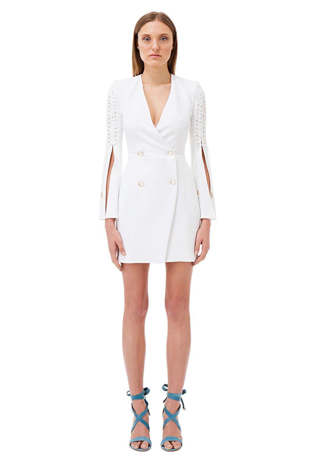 Mini abito doppiopetto con stringhe - Elisabetta Franchi  3db3e53c767