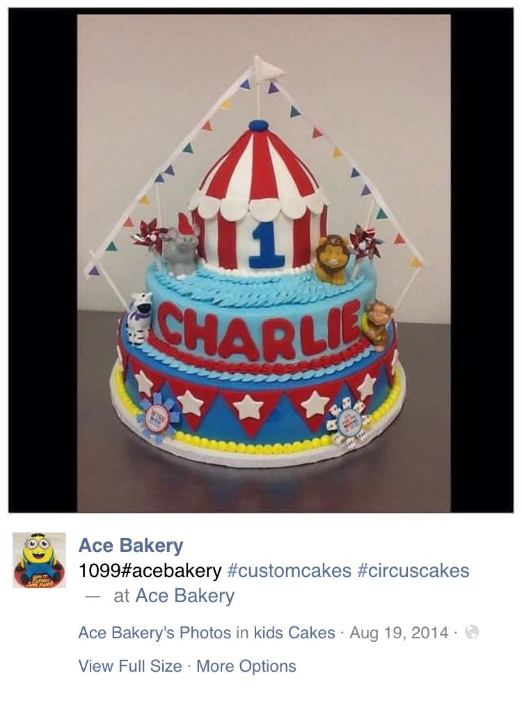 Carnival Theme Birthday Cake By Ace Bakery In Chicagoil Monaylizz