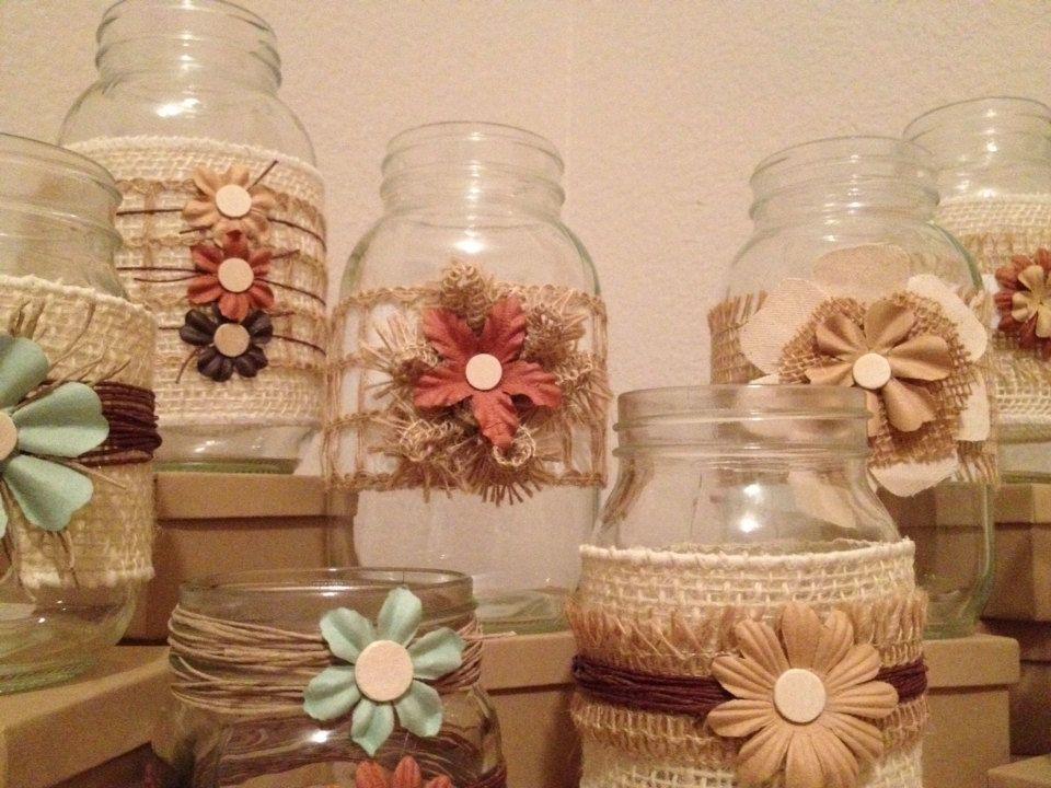 Items similar to Burlap Wedding Centerpiece Country